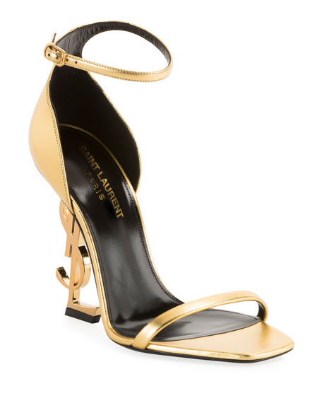 Saint Laurent Opyum YSL Logo-Heel Sandals
