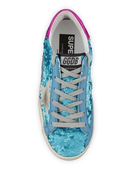 Golden Goose Sequined Superstar Low-Top Sneakers