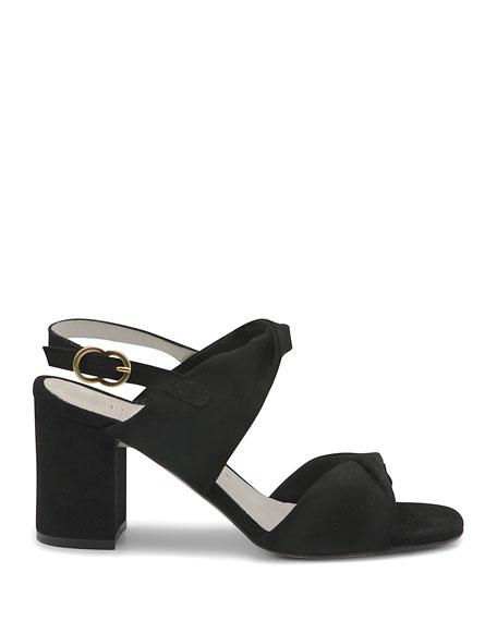 Bettye Muller Angel Suede Twisted Sandals