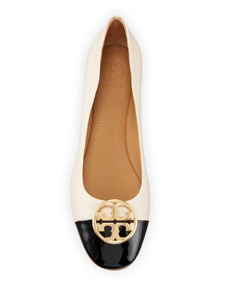 Tory Burch Chelsea Cap-Toe Leather Ballet Flats