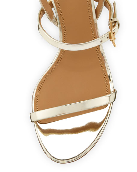 Tory Burch Penelope Metallic Leather Slingback Sandals