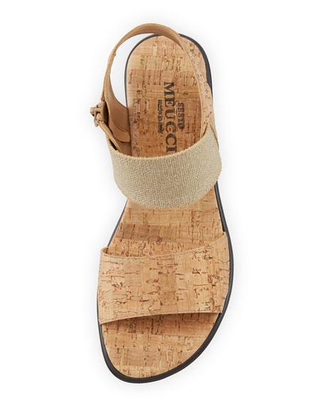 Sesto Meucci Elki Demi-Wedge Cork Sandals