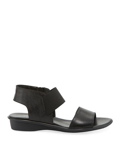 Sesto Meucci Elki Demi-Wedge Leather Sandals, Black