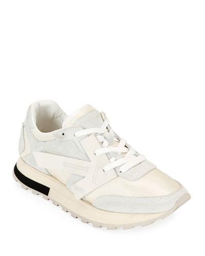 HG Runner Low-Top Suede Sneakers  White