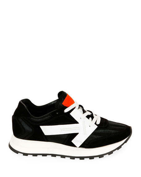 Off-White HG Runner Low-Top Suede Sneakers, Black