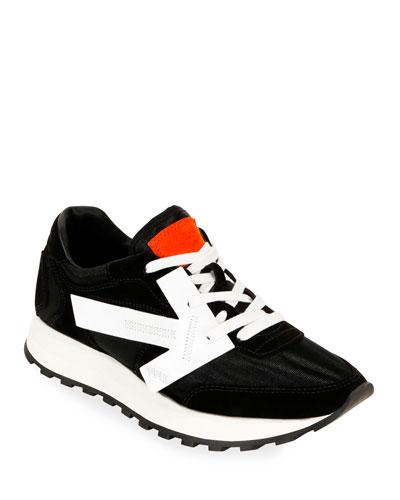HG Runner Low-Top Suede Sneakers  Black