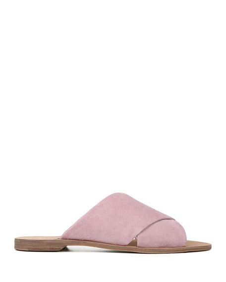 Diane von Furstenberg Bailie Suede Flat Sandals