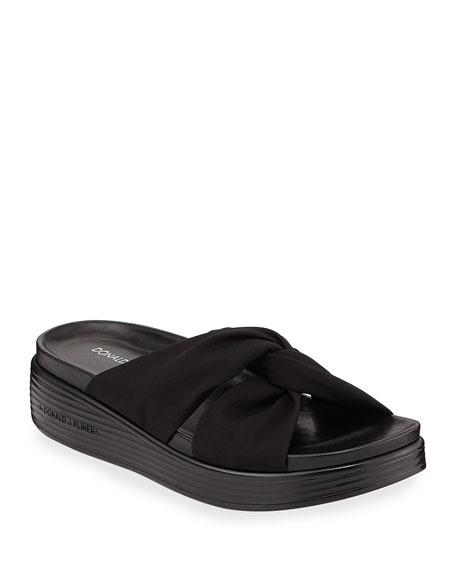 Donald J Pliner Freea Knotted Platform Slide Sandals