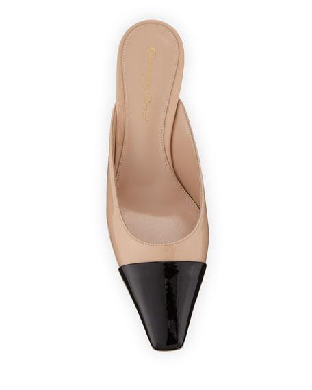 Gianvito Rossi Patent Leather Cap-Toe Mules