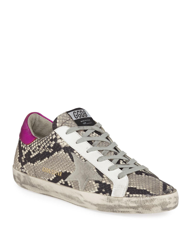 detailed look 01572 194d8 Superstar Snake-Print Sneakers