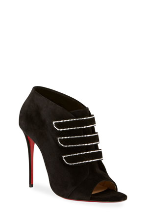 Christian Louboutin Triplica Suede Red Sole Booties