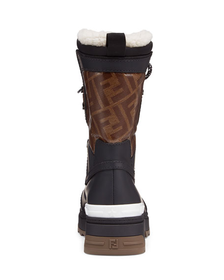 Fendi FF Shearling Snow Boots