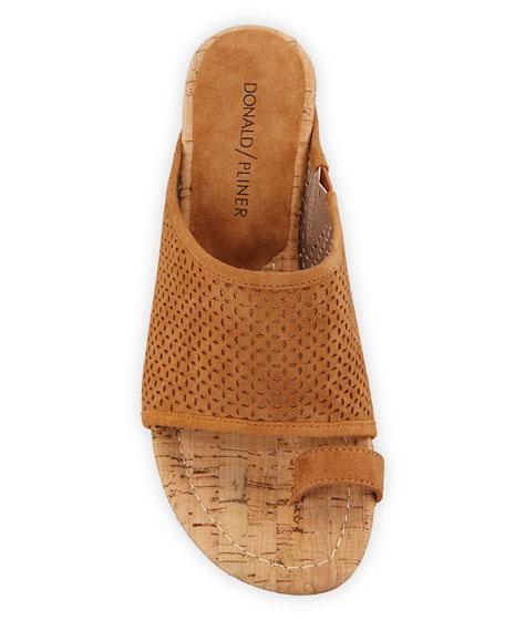 Donald J Pliner Geana Suede Cork-Wedge Sandals