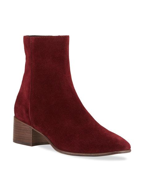 Rag & Bone Aslen Suede Zip Boots