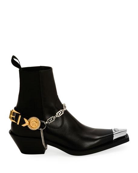 Versace Camperos Western Booties