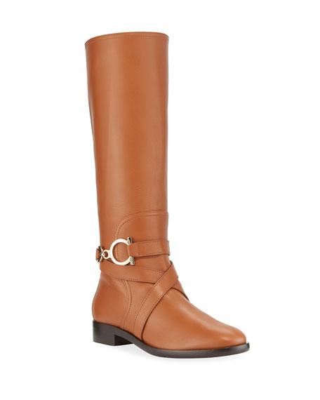 Salvatore Ferragamo Sarah Riding Gancio Boots