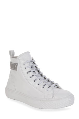 Valentino Garavani 25mm VLTN High-Top Sneakers