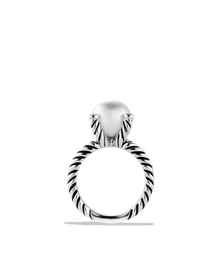 Image 5 of 5: David Yurman Cable Pearl Ring with Diamonds