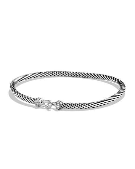 Image 1 of 3: David Yurman Cable Buckle Bracelet with Diamonds
