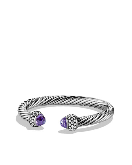 Cable Classics Bracelet with Amethyst and Diamonds