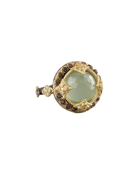 Armenta Green Turquoise & Black Diamond Crivelli Ring