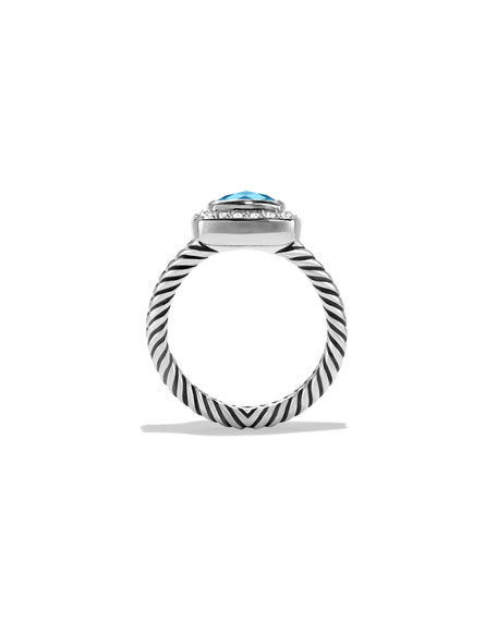 Petite Albion Ring with Hampton Blue Topaz and Diamonds