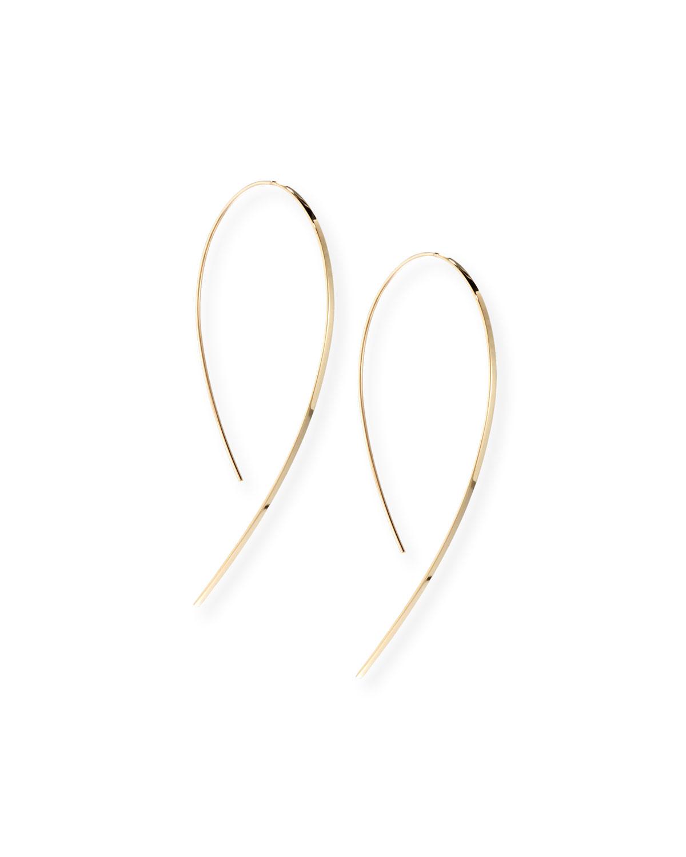 Lana Jewelry Yellow Gold Hook-On Hoop Earrings Ouavl