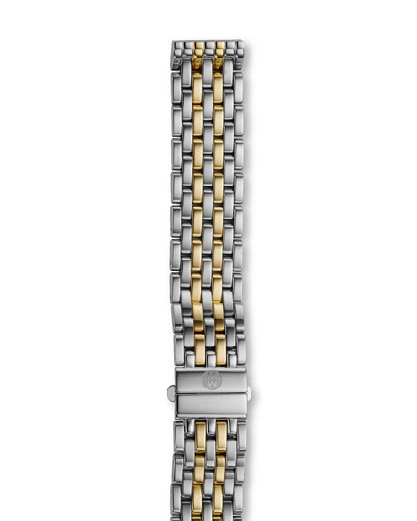 MICHELE 16mm Deco Bracelet Strap, Two-Tone