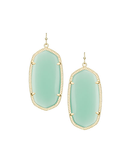 Danielle Earrings, Chalcedony