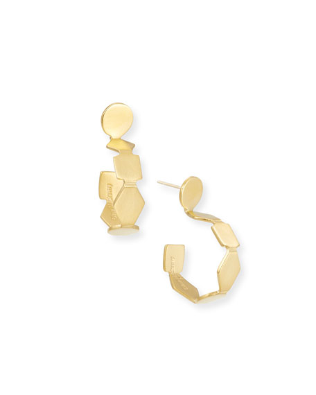 Geometric Gold Vermeil Hoop Earrings