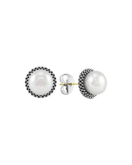 8.5mm Pearl Caviar Earrings