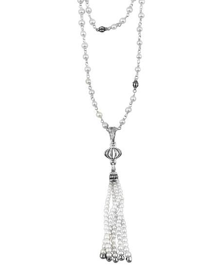 LAGOS Luna Pearl-Tassel Necklace