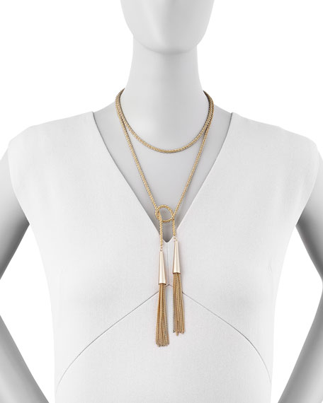 Phara Gold-Plated Double-Wrap Necklace