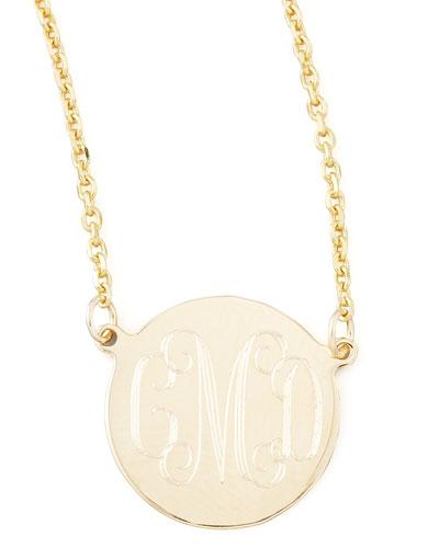 Cara Monogrammed 14kt Gold Necklace  1/2