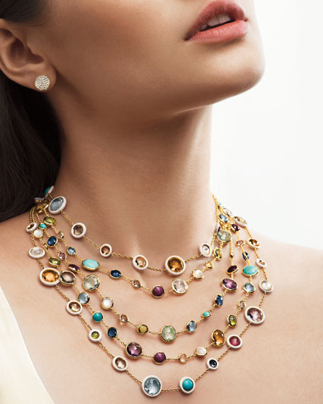 Image 2 of 3: 18k Gold Rock Candy Lollitini Necklace in Multi, 36""