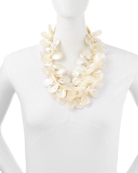 Mother-of-Pearl Petal Necklace