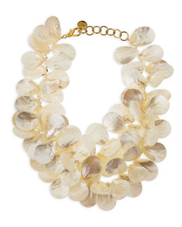 Nest Mother-of-Pearl Petal Necklace