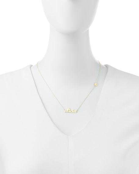 Jennifer Zeuner Abigail-Style Personalized Name Necklace with Diamond Heart