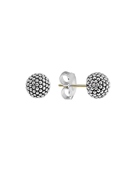 Lagos Silver Columbus Circle Stud Earrings