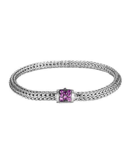 John Hardy Extra Small Chain Bracelet w/ Pave Clasp HCMLr