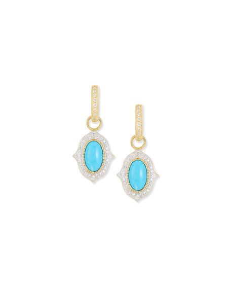 JudeFrances Jewelry Moroccan Turquoise Diamond Earring Charms