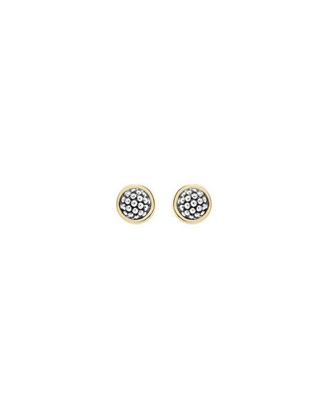 10mm Caviar Button Stud Earrings