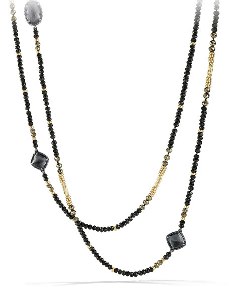 David Yurman Chatelaine Necklace with Hematine, Black Spinel