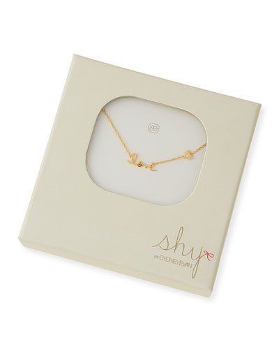 SHY by SE Love Diamond-Heart Pendant Necklace