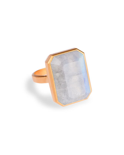 Ringly Daydream rainbow moonstone smart ring