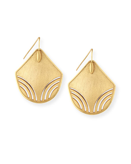 Stephanie Kantis Lure 24K Gold-Plated Earrings