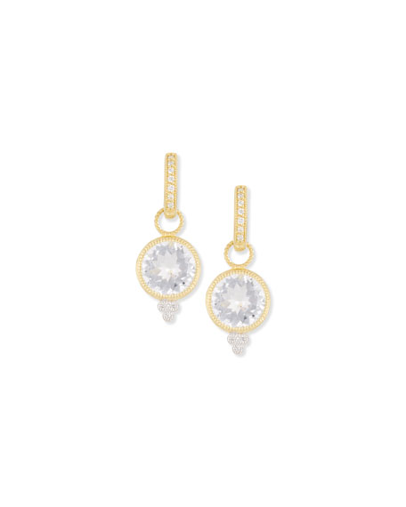 JUDEFRANCES JEWELRY Provence White Topaz & Diamond Earring Charms in Gold