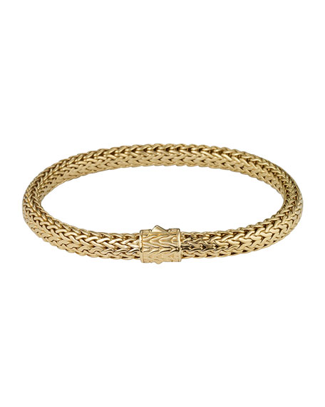 Gold Classic Chain Bracelet, Size S