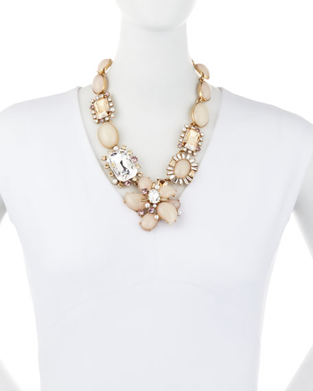 Bold Multi-Crystal Statement Necklace