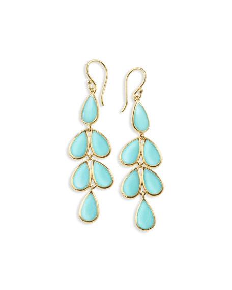 Ippolita 18K Rock Candy Turquoise Teardrop Earrings